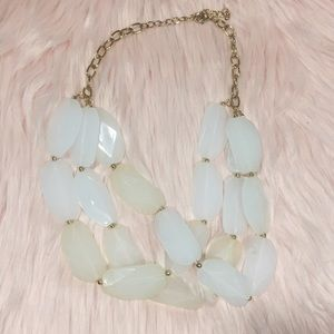 NWOT - H&M - Clear Beaded Statement Necklace